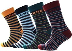 Jack & Jones Multi 4-Pack Striped Socks