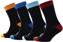Jack & Jones Red 4 Pack Spotty Socks