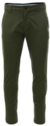 Tommy Jeans Olive Stretch Organic Cotton Chinos
