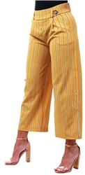 Jdy Yellow / Harvest Gold Striped Trousers