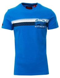 Superdry Riviera Royal Marl Vintage Authentic Chest Stripe T-Shirt