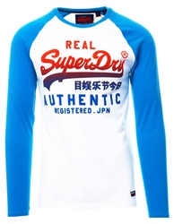 Superdry White Vintage Authentic Raglan Long Sleeve T-Shirt