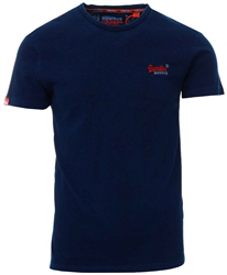 Superdry Dark Indigo Orange Label Vintage Embroidery T-Shirt