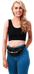 Parisian Black Rib Knit Crop Top