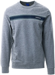 Jack & Jones Grey Logo Crew Sweatshirt
