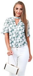 Style London Green Floral Pattern Short Sleeve Shirt