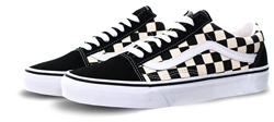 Vans Black/White Primary Check Old Skool Shoes
