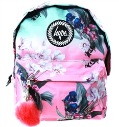 Hype Floral Fade Pom Pom Backpack