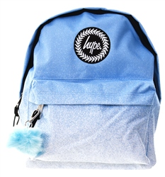 Hype Baby Blue Speckle Fade Pom Pom Backpack