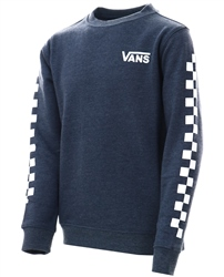 Vans Dress Blue Expostion Check Crew Sweater