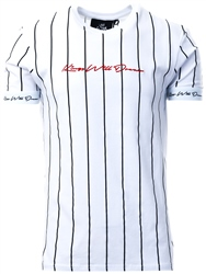 Kings Will Dream White /Black/Red Clifton Pinstripe T-Shirt