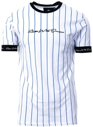 Kings Will Dream White/Cobalt/Black Clifton Pinstripe T-Shirt