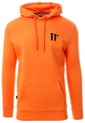 11degrees Neon Orange Core Pull Over Hoodie