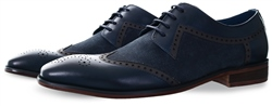 Paolo Vandini Navy Nyland Leather  Shoe