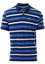 Hilfiger Denim Black Iris Essential Pure Cotton Stripe Polo