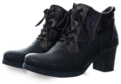 Mustang Graphite Textured Ankle Boot
