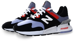 New Balance Black With Clear Amethyst 997 Sport Trainer