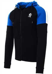 Gym King Black/Cobalt Core Plus Contrast Tracksuit Top