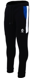 Gym King Black Core Plus Contrast Tracksuit Bottoms