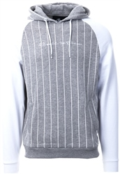 Kings Will Dream Grey/White Taylor Raglan Stripe Hoodie