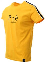 Pre London Yellow Panel Tape Short Sleeve T-Shirt