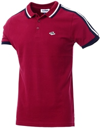 Le Shark Beet Red Side Panel Short Sleeve Polo Shirt