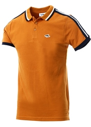 Le Shark Brown Side Panel Short Sleeve Polo Shirt
