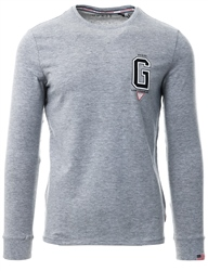 Guess Grey Long Sleeve Logo T-Shirt
