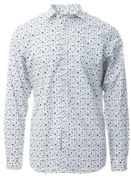 Jack & Jones White Dotted Poplin Shirt