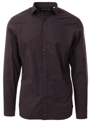 Purple Dotted Poplin Shirt by Jack & Jones
