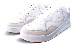 Lacoste White Court Slam Tonal Leather Trainers