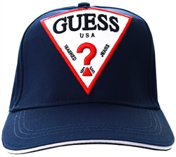 Guess Navy Logo Baseball Cap