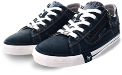 Mustang Navy Lace Up Trainer