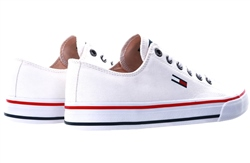 Tommy Jeans White Cotton Classic Trainers