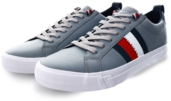 Tommy Jeans Griffin / Grey Flag Detail Leather Trainers
