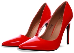 No Doubt Red Patent Stiletto Heel