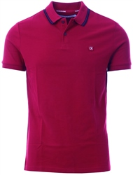 Calvin Klein Beet Red Slim Cotton Piqué Polo
