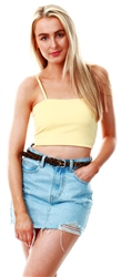Parisian Mustard Strappy Crop Top