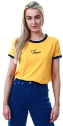 Hilfiger Denim Golden Glow Script Ringer T-Shirt