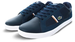 Lacoste Navy White Europa Lace Trainers