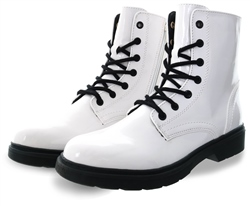 Dv8 White Lace Up Boots
