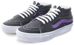 Vans Grey/Purple Retro Sport Sk8-Mid Shoes