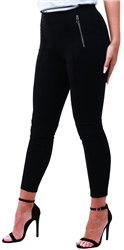 Veromoda Black / Black Zip Leggings