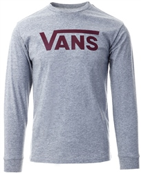 Vans Grey Athletic Classic Long Sleeve T-Shirt