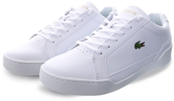 Lacoste White Challenge Leather And Synthetic Trainers