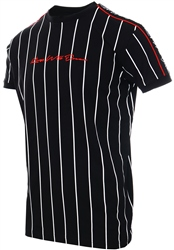 Kings Will Dream Black/White Rifton Pinstripe T-Shirt