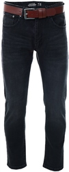 Black Straight Fit Jeans by Dv8