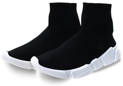 No Doubt Black Sock Slip On Trainer