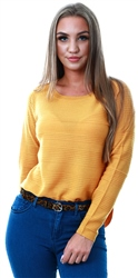 Only Golden Yellow Texture Knitted Pullover