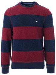 Jack Wills Red Baderston Stripe Sweat